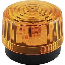 Velleman 640917,luce lampeggiante a LED, 12V DC, colore: arancione