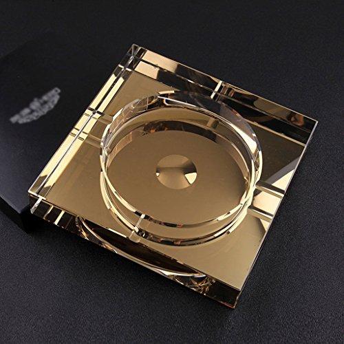 Aschenbecher Luxus Atmosphäre Kristallglas Rechtwinklig Kreative Persönlichkeit Business Geschenke Wohnzimmer Couchtisch Büro Hotel Club CHENGYI (größe : 15*15*3cm)