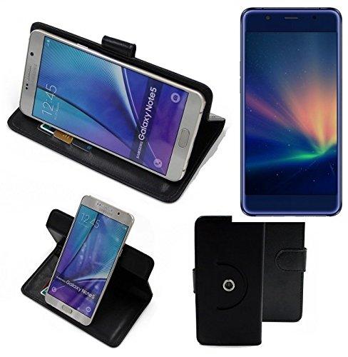 K-S-Trade® Case Schutz Hülle Für -Hisense A2 Pro- Handyhülle Flipcase Smartphone Cover Handy Schutz Tasche Bookstyle Walletcase Schwarz (1x)