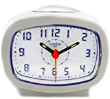 Bold Classic White Quartz Alarm Clock with Light up Numbers