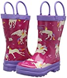 Hatley Fall Winter 15-Unicorns & Rainbows, Bottes de Pluie fille - Rose (Pink), 21 EU