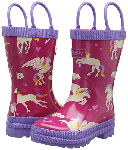 Hatley  Fall Winter 15 -Unicorns & Rainbows - Bottes de Pluie Rose (Pink)