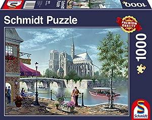 Schmidt Spiele 58375 - Puzzle (1000 Piezas), diseño de Notre-Dame de París