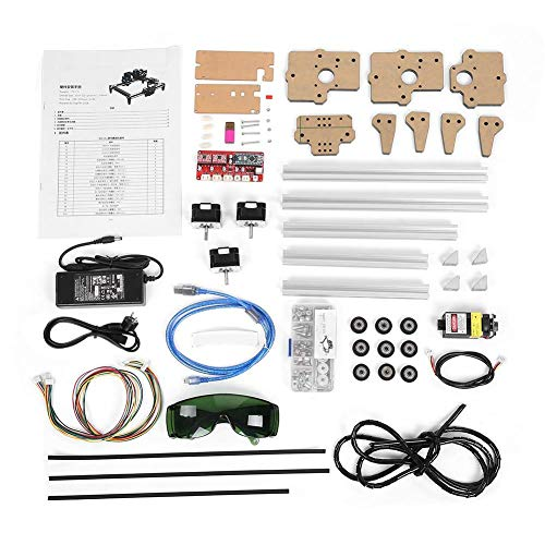 Graviermaschine, 100-240VAC 2.5W DIY Mini Desktop Engraver Schneidemaschinen Printer Kit(EU plug) -
