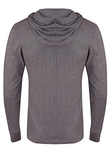 Golds Gym Kapuzen-Shirt, langärmlig hellgrau