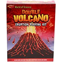 World of Science Double Volcano Eruption Playing Kit - Educational Toys by Carousel