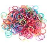 Ateam Loom Bandz, Gummibänder in verschiedenen Farben, 600 Stück, inklusive 25 Klammern glitter neon