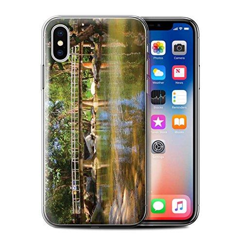 Stuff4 Gel TPU Hülle / Case für Apple iPhone X/10 / Fußgängerbrücke Muster / Thailand Landschaft Kollektion Fußgängerbrücke