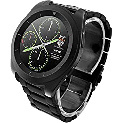 Reloj inteligente Bluetooth núm.1G6con monitor de ritmo cardíaco, podómetro. Reloj inteligente para iOS iPhone, Android