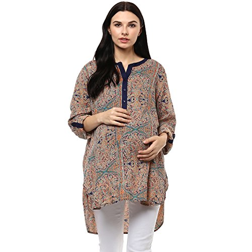 Wobbly Walk Women's Round Neck, Full Sleeves, Maternity Tunic