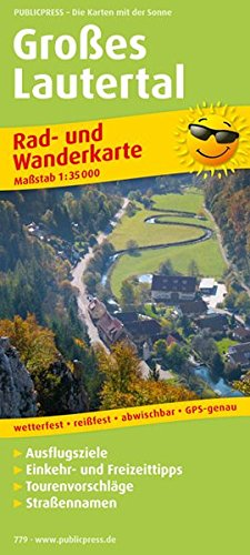Großes Lautertal: Rad- und Wanderkarte mit Ausflugszielen, Einkehr- & Freizeittipps, wetterfest, reißfest, abwischbar, GPS-genau. 1:35000 (Rad- und Wanderkarte / RuWK)