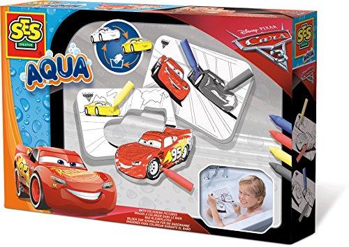 SES Creative - 13088 - Aqua Images À colorier dans Le Bain - Disney Cars 3