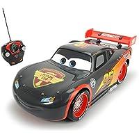 Cars - Rayo McQueen, coche con radiocontrol, escala 1:16, color gris (Dickie 3086000)