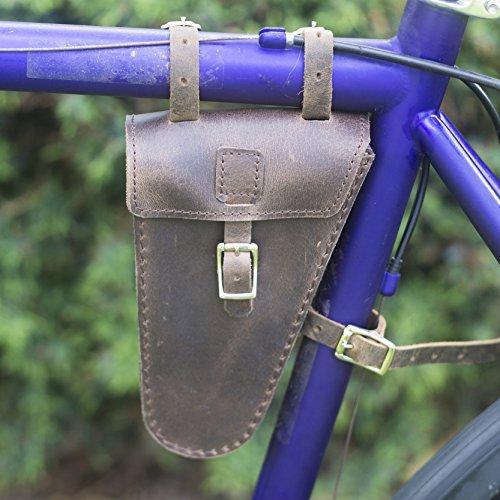 Rahmen Bike Bag echtes Leder in braun