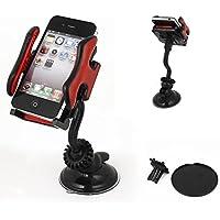 VGHFTB Auto Windschutzscheibenhalterung 360-Grad-Handy GPS mp4 Navigationshalter schwarz rot