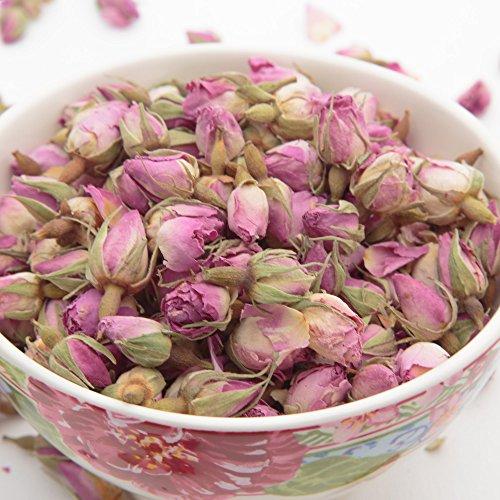 100 Gramm Rosa Rosenknospen und Rosenblätter Potpourri parfümiert Duftkissen Füllung - Rosemarie Schulz - Rosenblätter Rosa Getrocknete