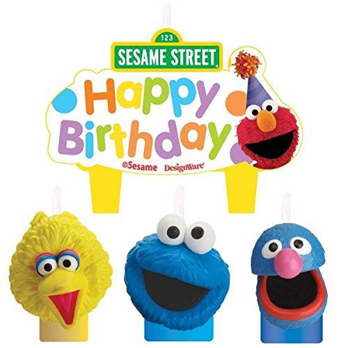 Amscan Sesame Street Molded Candle Set