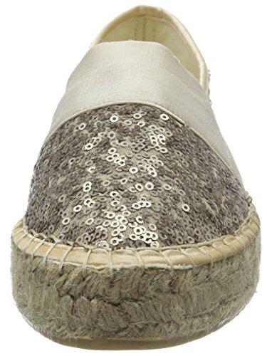 La Strada Champagne Sequins Espadrille, Espadrilles femme Beige - Beige (4208 - sequins champagne)