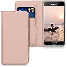 kwmobile Flip cover pour Samsung Galaxy A3 (2016) en or rose avec revêtement en cuir synthétique et ouverture