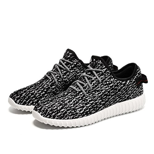 Herren Lässige Schuhe Atmungsaktiv Sportschuhe Mode Licht Draussen Laufschuhe Tuchschuhe black and white