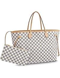 60079a59d2685 Noah Birch Neverfull Style Canvas Azur Tote Women s Organizer Handbag  Shoulder Fashion Bag