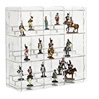 SORA Display Case for Collectable Figures with transparent back-panel