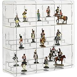 SORA Vitrine pour figurines de collection avec fond transparent