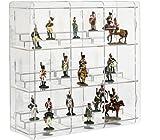 Sora - Vetrina per statuine da collezione, colore pannello posteriore: Trasparente