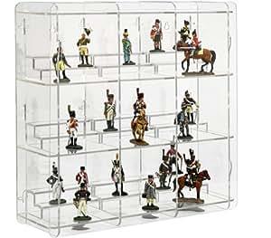 sora vitrine pour figurines de collection avec fond transparent jeux et jouets. Black Bedroom Furniture Sets. Home Design Ideas