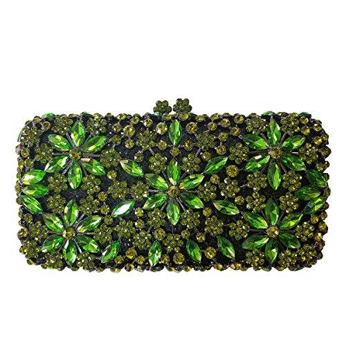 Flada , Damen Clutch Grün grün M grün