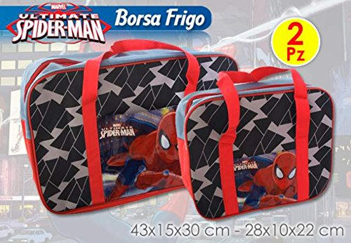 Set 2 borsa frigo spiderman 24+6 litri mare piscina idea regalo mct1944