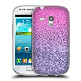 Head Case Designs Offizielle Monika Strigel Lavendel Pink Glitzer Sammlung Soft Gel Hülle für Samsung Galaxy S3 III Mini