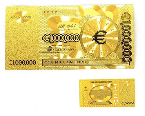 24K Goldfolie 1 Million Euro-Banknote 1 Million Euro Goldfolie Geld Gold-Banknoten