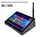 Tablet Computer, Mini PC, TV Box, Original Pipo x8mini PC Intel Z3736F Quad Core Windows 10& Android 4.4Dual OS TV BOX 2GB/32GB (or 64GB & # xff09; TV Box 7Inch Screen 32GB (ROM)