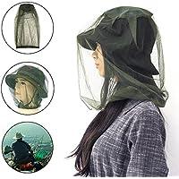 Golrisen 3 Stück Moskito Kopfnetz Feinmaschig Moskitonetz Kopf Insektenschutz Hut Geeignet für Outdoor Wandern Camping, Klettern, Angeln, Radfahren, Imkerei