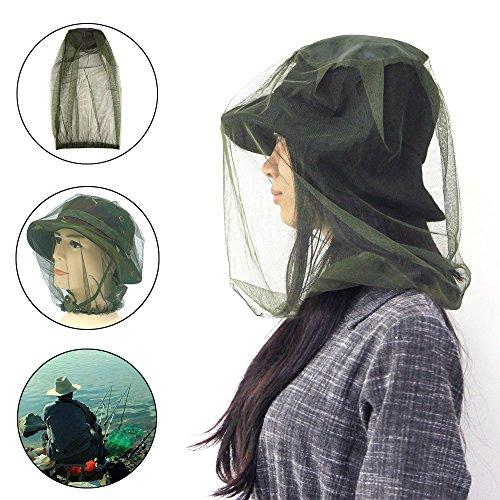 Golrisen 3 Stück Moskito Kopfnetz Feinmaschig Moskitonetz Kopf Insektenschutz Hut Geeignet für Outdoor Wandern Camping, Klettern, Angeln, Radfahren, Imkerei -
