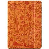 Ozaki O!Coat Travel Versatile 360 Grad faltbare New York Tasche mit patentierte Standtechnik, On/Off Funktion und Stylus-Halter für Apple iPad Air 2 orange