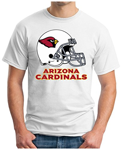 OM3 Arizona Cardinals - T-Shirt   Herren   American Football Shirt   Super Bowl 52 LII   NFL   S - 5XL Weiß