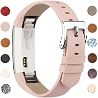 Vancle Strap for Fitbit Alta HR/Fitbit Alta, Adjustable Comfortable Replacement Leather Band with Stainless Steel Buckle for Fitbit Alta 2016 / Fitbit Alta HR 2017(No Tracker)