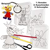 Creativ Company Großpack Schrumpffolien Kidsmotive, 40er Pck