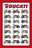 Schatzmix Ducati Modelle übersicht 1959-1967 blechschild
