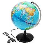 EsportsMJJ 32Cm Beleuchtete Welt Globus Geographical Tellurion Globe Electric Led Licht
