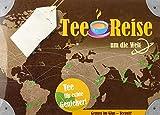 Teereise um die Welt (Jasmintee, Japan Sencha, Darjeeling, English Breakfast, Rwanda OP1 Rukeri) im Geschenkkarton mit einem Tee-Ei aus Edelstahl
