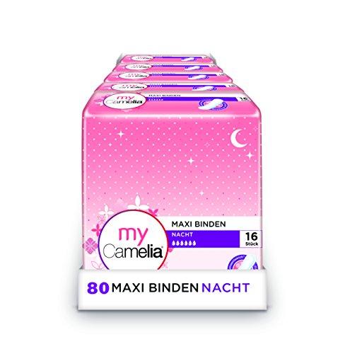 Maxi Binden Nacht, 5er Pack (5 x 16 Stück)