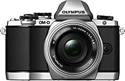 Olympus OM-D E-M10 Systemkamera (16 Megapixel, Live MOS Sensor, True Pic VII Prozessor, 3-Achsen VCM Bildstabilisator, Sucher, Full-HD, HDR) Kit inkl. 14-42mm Objektiv (elektr. Zoom) silber