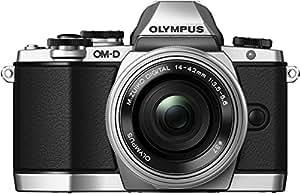 Olympus OM-D EM10 with Power Zoom Pancake M.Zuiko Digital ED 14-42mm 1:3.5-5.6 EZ Lens - Silver/Silver (16.1MP, Live MOS ) 3.0 inch Tiltable LCD