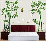 winhappyhome Bambus gelb Bird Art Wand Aufkleber für Coffee Shop Wohnzimmer TV Hintergrund abnehmbar Decor Aufkleber