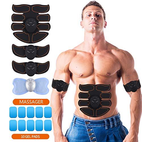 UYGHHK Electroestimulador Muscular Abdominales Cinturón