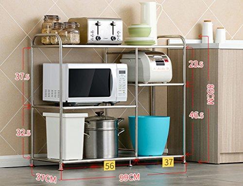 Preisvergleich Produktbild HWF Küchenwagen Edelstahl Regal Backofen Rack Mikrowelle Ofen Rack Küche Regal Regale Boden ( Farbe : 85CM )
