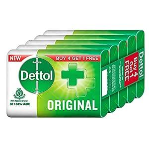 Dettol Original Germ Protection Bathing Soap Bar (Buy 4 Get 1 Free - 125g each), Combo Offer on Bath Soap
